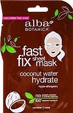 Düfte, Parfümerie und Kosmetik Feuchtigkeitsspendende Tuchmaske mit Kokosnusswasser - Alba Botanica Fast Fix Coconut Hydrate Sheet Mask