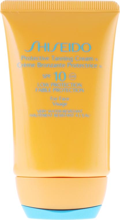 Wasserfeste Sonnenschutzcreme für das Gesicht SPF 10 - Shiseido Suncare Protective Tanning Cream N SPF 10 For Face — Bild N2
