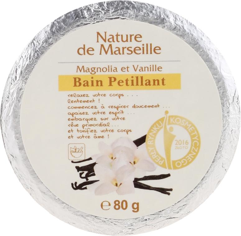 Badebombe mit Magnolien- und Vanilleduft - Nature de Marseille Magnolias&Vanilla
