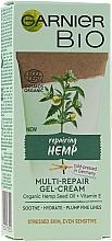 Düfte, Parfümerie und Kosmetik Bio regenerierende Gesichtsgel-Creme mit Hanfsamenöl und Vitamin E - Garnier Bio Multi-Repair Gel-Cream