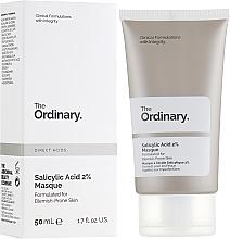 Düfte, Parfümerie und Kosmetik Gesichtsmaske mit 2% Salicylsäure für zu Hautunreiheiten neigende Haut - The Ordinary Salicylic Acid 2% Masque