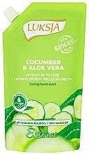 Düfte, Parfümerie und Kosmetik Cremige Flüssigseife mit Gurke und Aloe Vera - Luksja Cucumber & Aloe Soap (Doypack)