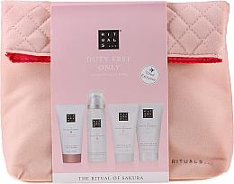 Düfte, Parfümerie und Kosmetik Körperpflegeset - The Ritual of Sakura Renewing Treat (b/cr/70ml + sh/g/50ml + shampoo/70ml + b/scrub/70ml + bag)