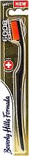 Düfte, Parfümerie und Kosmetik Zahnbürste weich 6008 Filaments schwarz-orange - Beverly Hills Formula 6008 Filament Multi-Colour Toothbrush