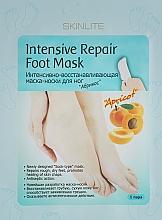 Düfte, Parfümerie und Kosmetik Intensiv regenerierende Fußmaske-Socken mit Aprikose - Skinlite Intensive Repair Foot Mask