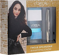 Düfte, Parfümerie und Kosmetik Make-up Set (Wimperntusche 10,7ml + Mizellenwasser 125ml) - L'Oreal Paris