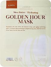 Düfte, Parfümerie und Kosmetik Feuchtigkeitsspendende Tuchmaske mit Sheabutter - Elroel Golden Hour Mask Shea Butter Hydrating