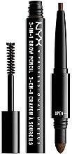 Düfte, Parfümerie und Kosmetik 3in1 Augenbrauenstift, -puder und -mascara - NYX Professional Makeup Cosmetics 3-in1 Brow Pencil