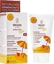 Düfte, Parfümerie und Kosmetik Sonnenschutzmilch für empfindliche Kinderhaut SPF 30 - Weleda Edelweiss Baby&Kids Sun SPF 30