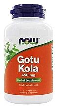Düfte, Parfümerie und Kosmetik Nahrungsergänzungsmittel Indischer Wassernabel 450 mg - Now Foods Gotu Kola