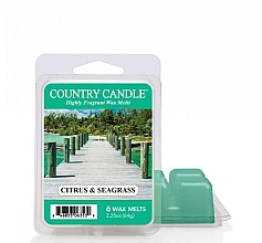 Düfte, Parfümerie und Kosmetik Duftwachs Citrus & Seagrass - Country Candle Citrus & Seagrass Wax Melts
