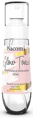 Aufhellendes und peelendes Gesichtstonikum mit AHA-Säuren, Niacinamid und Aloe Vera - Nacomi Glow Brightening & Exfoliating Tonic