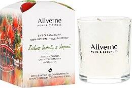 """Düfte, Parfümerie und Kosmetik Duftkerze im Glas """"Grüner Tee aus Japan"""" - Allvernum Home&Essences Candle"""