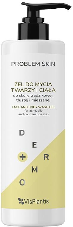 Gesichts- und Körperreinigungsgel für fettige und Mischhaut - Vis Plantis Problem Skin Face And Body Wash Gel
