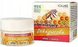 Düfte, Parfümerie und Kosmetik Natürliche verjüngende Gesichtscreme mit Honig und Rhabarber - Vollare