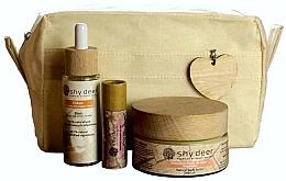 Düfte, Parfümerie und Kosmetik Körperpflegeset - Shy Deer Zero Waste Set (Gesichtselixier 30ml + Körperbutter 100ml + Lippenbutter 12ml + Kosmetiktasche)