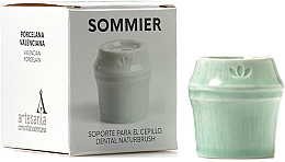 Düfte, Parfümerie und Kosmetik Zahnbürstzenhalter aus Porzellan hellgrün - NaturBrush Sommier Toothbrush Holder