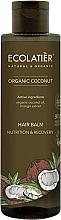 Düfte, Parfümerie und Kosmetik Nährende und regenerierende Haarspülung mit Bio Kokosnussöl und Mangoextrakt - Ecolatier Organic Coconut Hair Balm
