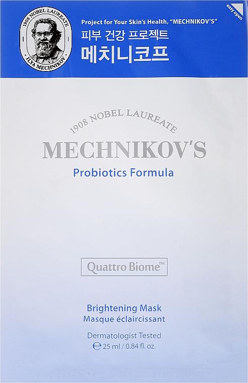 Aufhellende, glättende und feuchtigkeitsspendende Tuchmaske mit Probiotika - Holika Holika Mechnikov's Probiotics Formula Mask Sheet