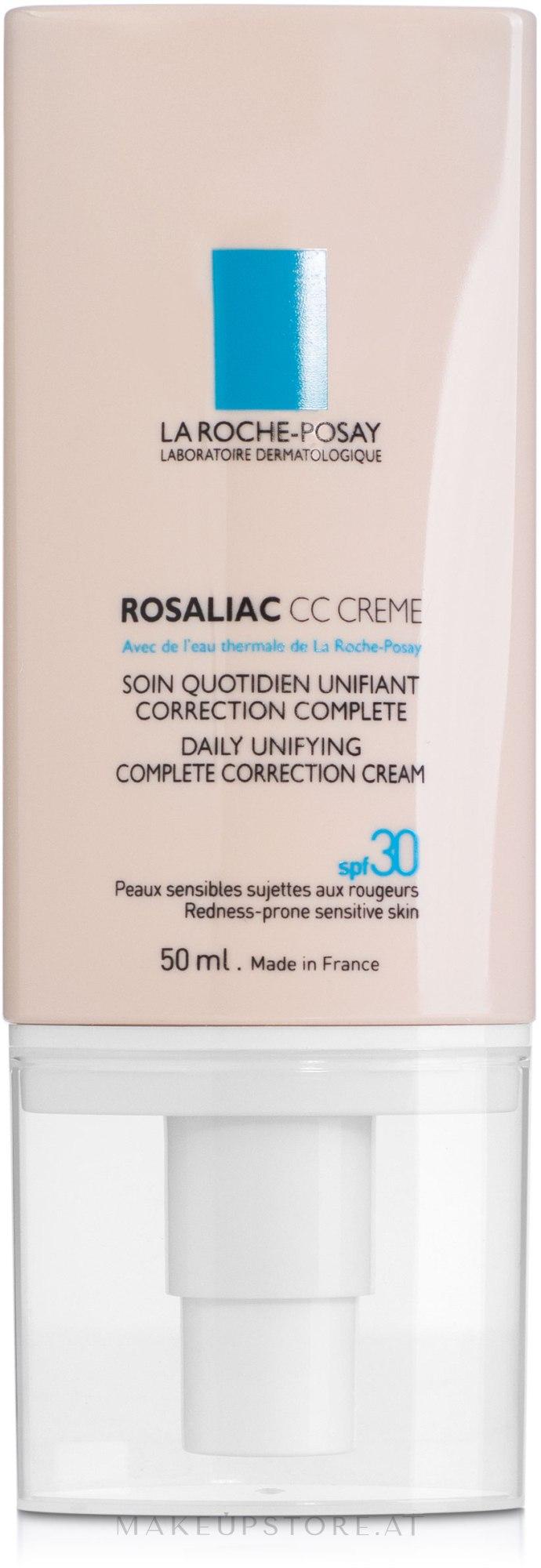 CC Creme gegen Hautrötungen LSF 30 - La Roche-Posay Rosaliac CC Cream SPF 30 — Bild 50 ml