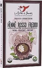 Düfte, Parfümerie und Kosmetik Henna-Pulver für kalte rote Haarfarbe - Le Erbe di Janas Red Henna Cold Shades