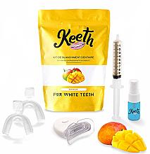 Düfte, Parfümerie und Kosmetik Aufhellendes Zahnpflegeset mit Mangogeschmack - Keeth Mango Teeth Whitening Kit