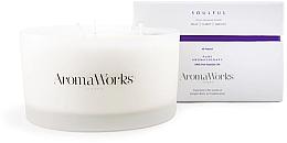 Düfte, Parfümerie und Kosmetik Duftkerze Seelenfülle mit 3 Dochten Heiterkeit - AromaWorks Soulful Candle 3-wick