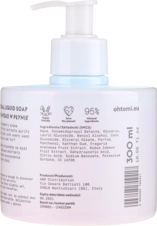 Natürliche Flüssigseife mit Himbeer- und Erdbeerextrakt - Oh!Tomi Piggy Liquid Soap — Bild N2