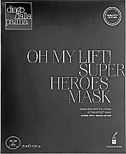 Düfte, Parfümerie und Kosmetik Straffende und glättende Tuchmaske für das Gesicht mit Lifting-Effekt - Diego Dalla Palma Oh My Lift Super Heroes Mask