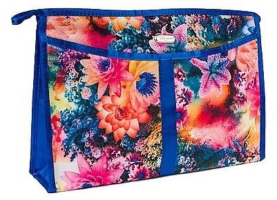 Kosmetiktasche mit Blumen-Dessin blau - Top Choice — Bild N1