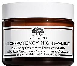 Düfte, Parfümerie und Kosmetik Feuchtigkeitsspendende und exfolierende Nachtcreme mit Kastanienextrakt und AHA-Säuren - Origins High-Potency Night-A-Mins Resurfacing Cream