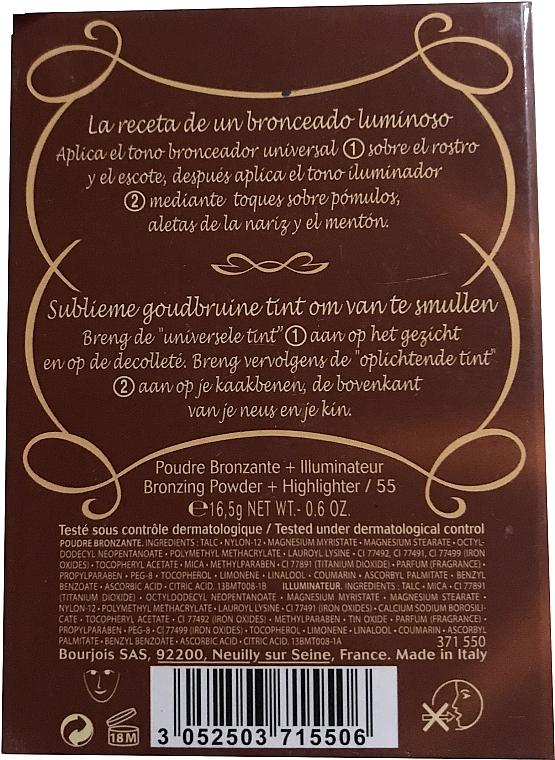 Kompaktpuder für Gesicht - Bourjois Delice De Poudre Bronzing Duo Powder + Highlighter — Bild N4