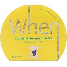 Düfte, Parfümerie und Kosmetik Bio-Cellulose Tuchmaske für den Hals - When Youth Recharger For Neck Bio-Cellulose Mask