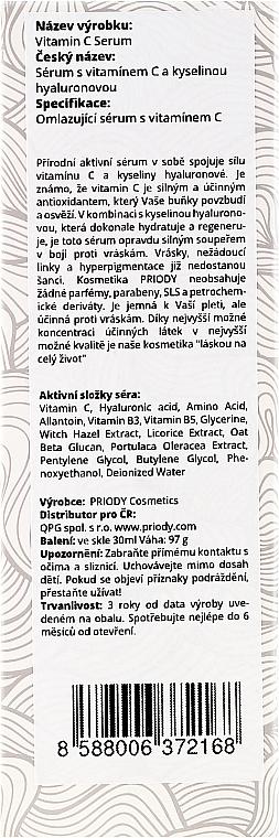 Gesichtsserum - Priody Vitamin C Serum — Bild N3