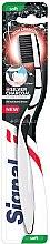 Düfte, Parfümerie und Kosmetik Zahnbürste weich Silver Charcoal schwarz-weiß - Signal Natural Elements Silver Charcoal Toothbrush