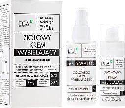Düfte, Parfümerie und Kosmetik Gesichtspflegeset zur Aufhellung der Haut für die Nacht - DLA (Creme 30g + Aktivator 50g)