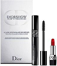 Düfte, Parfümerie und Kosmetik Make-up Set (Mascara 6ml + Lippenstift 1.5g) - Dior Diorshow Pump 'N' Volume Mascara & Lipstick Set