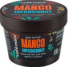 Düfte, Parfümerie und Kosmetik Körpercreme-Butter mit Mango und Kokosnuss - Cafe Mimi Body Butter Mango And Coconut