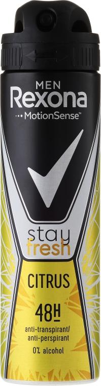Deospray Antitranspirant - Rexona Men Stay Fresh Citrus Deodorant Spray
