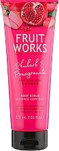 Düfte, Parfümerie und Kosmetik Körperpeeling mit Rhabarber und Granatapfel - Grace Cole Fruit Works Body Scrub Rhubarb & Pomegranate