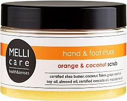 Düfte, Parfümerie und Kosmetik Salz-Zucker-Peeling für Hände und Füße mit Orange und Kokosnuss - Melli Care Orange&Coconut Scrub