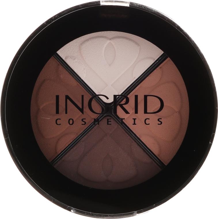 Kompakte Lidschattenpalette - Ingrid Cosmetics Smoky Eyes Eye Shadows