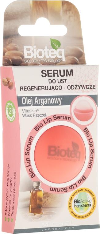 Regenerierender und feuchtigkeitsspendender Lippenbalsam mit Arganöl - Bioteq Bio Lip Serum Regenerating and Nourishing
