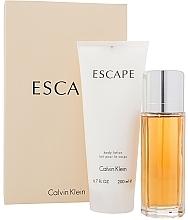 Düfte, Parfümerie und Kosmetik Calvin Klein Escape For Women - Duftset (Eau de Parfum 100ml + Körperlotion 200ml)
