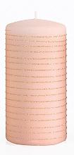 Düfte, Parfümerie und Kosmetik Dekorative Kerze rosa-gold 7x10 cm - Artman Andalo