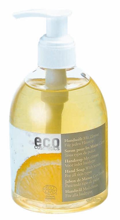 Flüssigseife mit Zitronenöl - Eco Cosmetics Eco Hand Soap With Lemon  — Bild N1