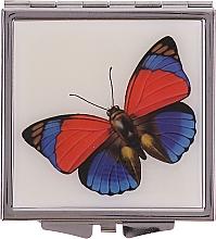 Düfte, Parfümerie und Kosmetik Kosmetischer Taschenspiegel 85420 Schmetterling rot-blau - Top Choice