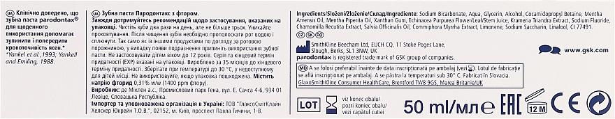 Zahnpasta mit Fluoride gegen Zahnfleischbluten - Parodontax F — Bild N2