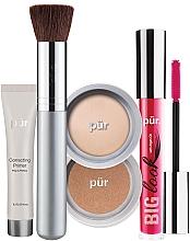 Düfte, Parfümerie und Kosmetik Make-up Set - Pur Minerals Best Sellers Starter Kit Light (Gesichtsprimer 10ml + Foundation 4.3g + Bronzier Puder 3.4g + Mascara 5g + Make-up Pinsel)