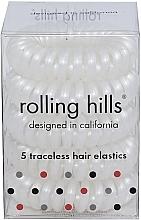 Düfte, Parfümerie und Kosmetik Spiral-Haargummis 5 St. weiß - Rolling Hills 5 Traceless Hair Rings White
